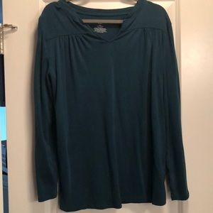 Maternity teal green top